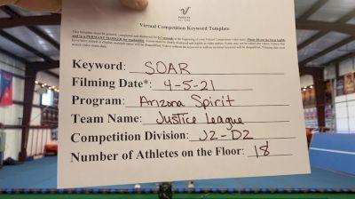 Arizona Spirit - Justice League [L2 Junior - D2 - Small] 2021 The Regional Summit Virtual Championships