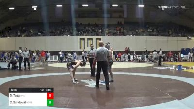 Match - Gabriel Tagg, Unattached - North Carolina vs Christopher Sandoval, Northern Colorado with commentary