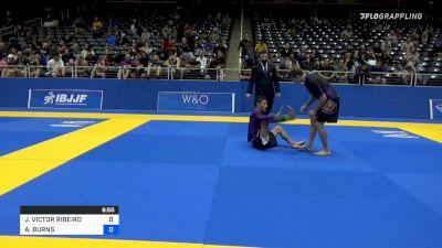 JOAO VICTOR RIBEIRO vs AUSTIN BURNS 2021 World IBJJF Jiu-Jitsu No-Gi Championship