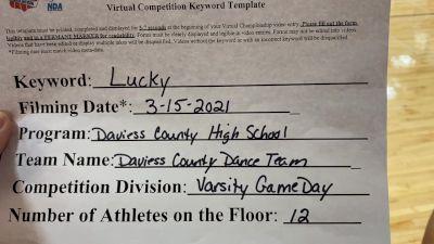 Daviess County High School - Varsity [Varsity - Game Day] 2021 NCA & NDA Virtual March Championship