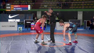 65 kg sf, David HABAT, SLO vs Joseph Christopher MCKENNA, USA