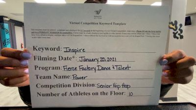 Fierce Factory Dance & Talent - Power [Senior Coed - Hip Hop] 2021 GSSA DI & DII Virtual Championship