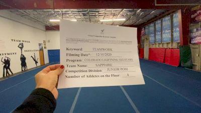 Colorado Lightning Athletics - Sapphire [All Star Junior - Pom] Varsity All Star Virtual Competition Series: Event VII