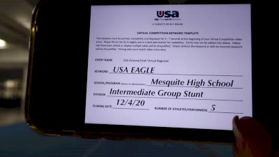 Mesquite High School [HS Group Stunt Intermediate - All Female] 2020 USA Arizona & Utah Virtual Regional