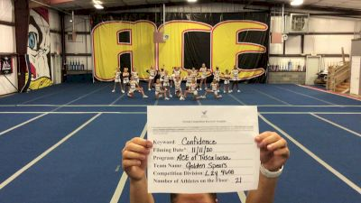 ACE Cheer Company - TUS - Golden Spears - Golden Spears [L2 Youth - Small] Varsity All Star Virtual Competition Series: Event IV