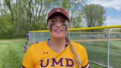 UMD's Sidney Zavoral Credits Consistent Pitching and Defense in 13 Inning Walk-Off Win