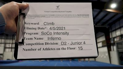 SoCo Intensity - Inferno [L4 Junior] 2021 The Regional Summit Virtual Championships