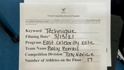 East Celebrity Elite [L1 Tiny - Novice - Restrictions] 2021 Varsity Virtual Competition Series - Prep & Novice II