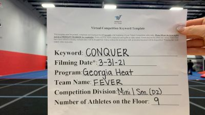 Georgia Heat - FEVER [L1 Mini - D2] 2021 Varsity All Star Winter Virtual Competition Series: Event V