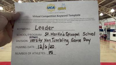 St. Martins Episcopal [Game Day Varsity - Non-Tumble] 2020 UCA Louisiana Virtual Regional