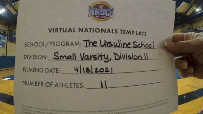 The Ursuline School [Virtual Small Varsity Division II Finals] 2021 UCA National High School Cheerleading Championship