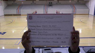 Carson Newman University [Virtual Pom Open Prelims] 2021 NCA & NDA Collegiate Cheer & Dance Championship