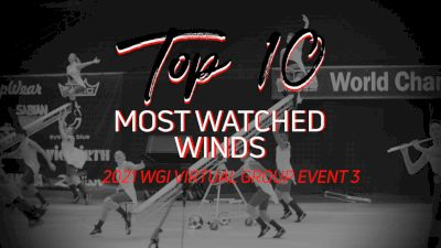 Top 10: Most Watched Winds - WGI Virtual Group Event 3