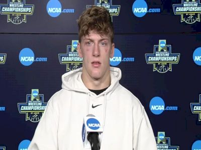 Shane Griffith (Stanford) after 165-pound semifinal win at 2021 NCAA Championships