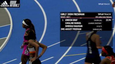 High School Girls' 200m Freshmen, Heat 4