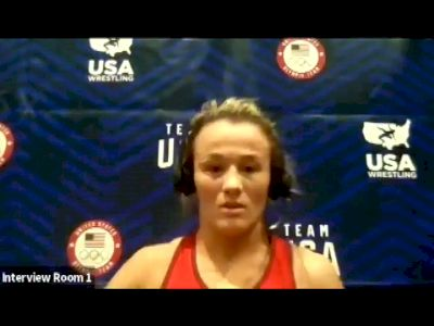 Forrest Molinari (68 kg) after true third match at 2021 Olympic Trials