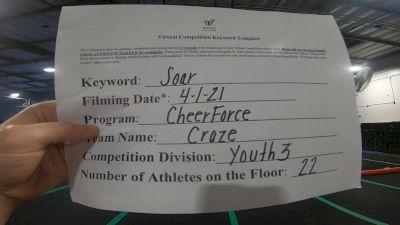 Cheerforce San Diego - Craze [L3 Youth] 2021 The Regional Summit Virtual Championships