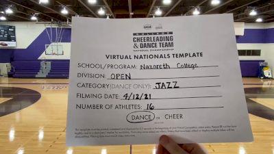 Nazareth College [Virtual Open Jazz Finals] 2021 UCA & UDA College Cheerleading & Dance Team National Championship