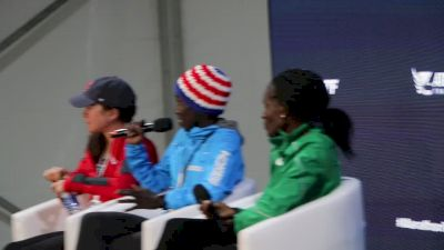 Aliphine Tuliamuk's celebration with NAZ Elite teammates