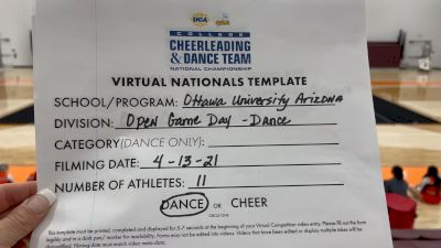 Ottawa University Arizona [Virtual Open Game Day - Dance Semi Finals] 2021 UCA & UDA College Cheerleading & Dance Team National Championship