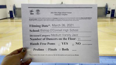 Bishop O'Connell High School [Virtual Medium Varsity - Jazz Prelims] 2021 NDA High School National Championship