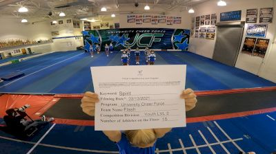 University Cheer Force - Flash [L2 Youth - Small] 2021 PacWest Virtual Championship
