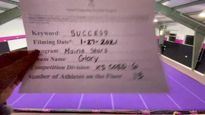 Maine Stars Glory - Glory [L6 Senior Coed - Xsmall] 2021 Athletic Championships: Virtual DI & DII