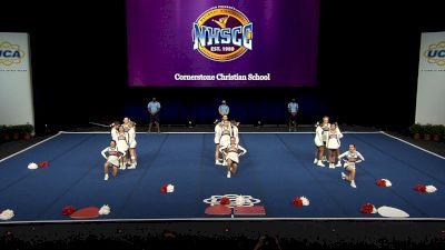 Cornerstone Christian School [2021 Small Non Tumbling Finals] 2021 UCA National High School Cheerleading Championship