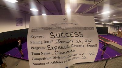 Express Cheer Force - Diamonds [L2 Junior - D2] 2021 Athletic Championships: Virtual DI & DII