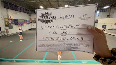Cheerletics Royalty - MISS LASH [L4 International Open] 2021 NCA All-Star Virtual National Championship