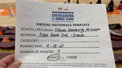 Ottawa University Arizona [Open Dance Game Day Virtual Finals] 2021 UCA & UDA College Cheerleading & Dance Team National Championship
