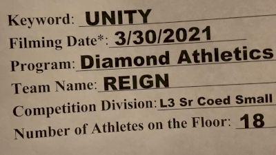 Diamond Athletics - Reign [L3 Senior Coed - D2 - Small] 2021 Mid Atlantic Virtual Championship