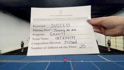 Gravity Cheer - Intensity [L4 Senior Coed] 2021 Athletic Championships: Virtual DI & DII