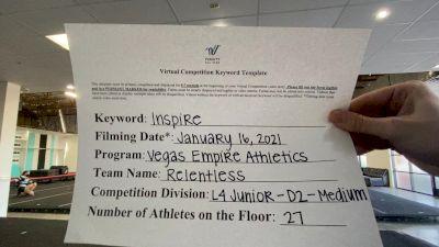 Vegas Empire Athletics - Relentless [L4 Junior - D2 - Medium] 2021 GSSA DI & DII Virtual Championship