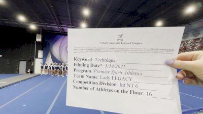 Premier Spirit Athletics - Lady Legacy [L6 International Open - NT] 2021 Varsity All Star Winter Virtual Competition Series: Event IV
