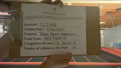 Texas Storm Athletics - Texas Storm Athletics - Heatwave [L2 Junior] 2021 The Regional Summit Virtual Championships
