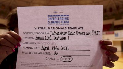 Midwestern State University [Small Coed Division I Virtual Finals] 2021 UCA & UDA College Cheerleading & Dance Team National Championship