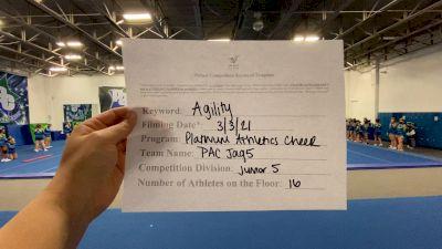 Platinum Athletics - PAC JAG5 [L5 Junior] 2021 Varsity All Star Winter Virtual Competition Series: Event III