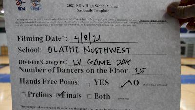 Olathe Northwest High School [Virtual Varsity - Game Day - Large Finals] 2021 NDA High School National Championship