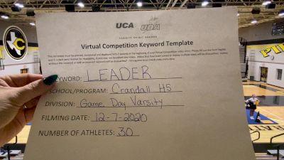 Crandall High School [Game Day Varsity] 2020 UCA Southwest Virtual Regional