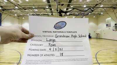 Grandview High School [Large Varsity - Pom Virtual Semi Finals] 2021 UDA National Dance Team Championship