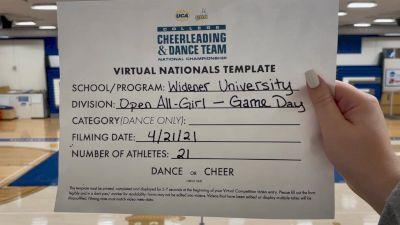 Widener University [Virtual Open All Girl Game Day Finals] 2021 UCA & UDA College Cheerleading & Dance Team National Championship