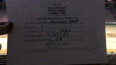 Missouri State University/Springfield [Division I Jazz Virtual Finals] 2021 UCA & UDA College Cheerleading & Dance Team National Championship