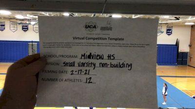 Midview High School [Small Varsity - Non Building] 2021 UCA February Virtual Challenge