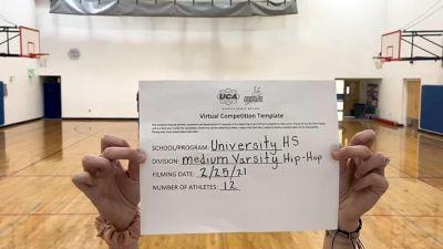 University High School [Varsity - Hip Hop] 2021 UDA West Spring Virtual Dance Challenge