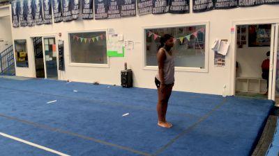 Jaylen Green - Standing Tumbling [Level 3 - Week 4] 2020 Varsity TV Level Legacy Challenge