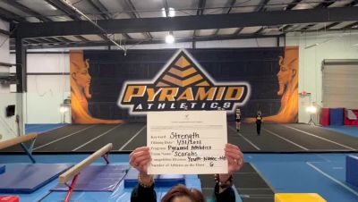 Pyramid Athletics - Scarabs [Exhibition (Cheer)] 2021 Varsity All Star Winter Virtual Competition Series: Event II