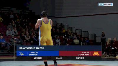 285lbs Match: Jarrod Snyder, CSU Bakersfield vs Chase O'Connor, Minnesota