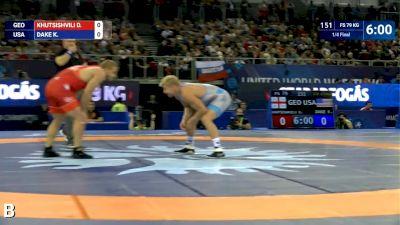 79kg Quarterfinal D. KHUTSISHVILI (GEO) v. Kyle DAKE (USA)