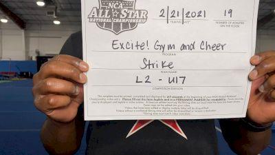 Excite Gym and Cheer - Strike [L2 - U17] 2021 NCA All-Star Virtual National Championship